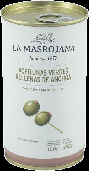 Grüne Oliven gefüllt mit Anchovis