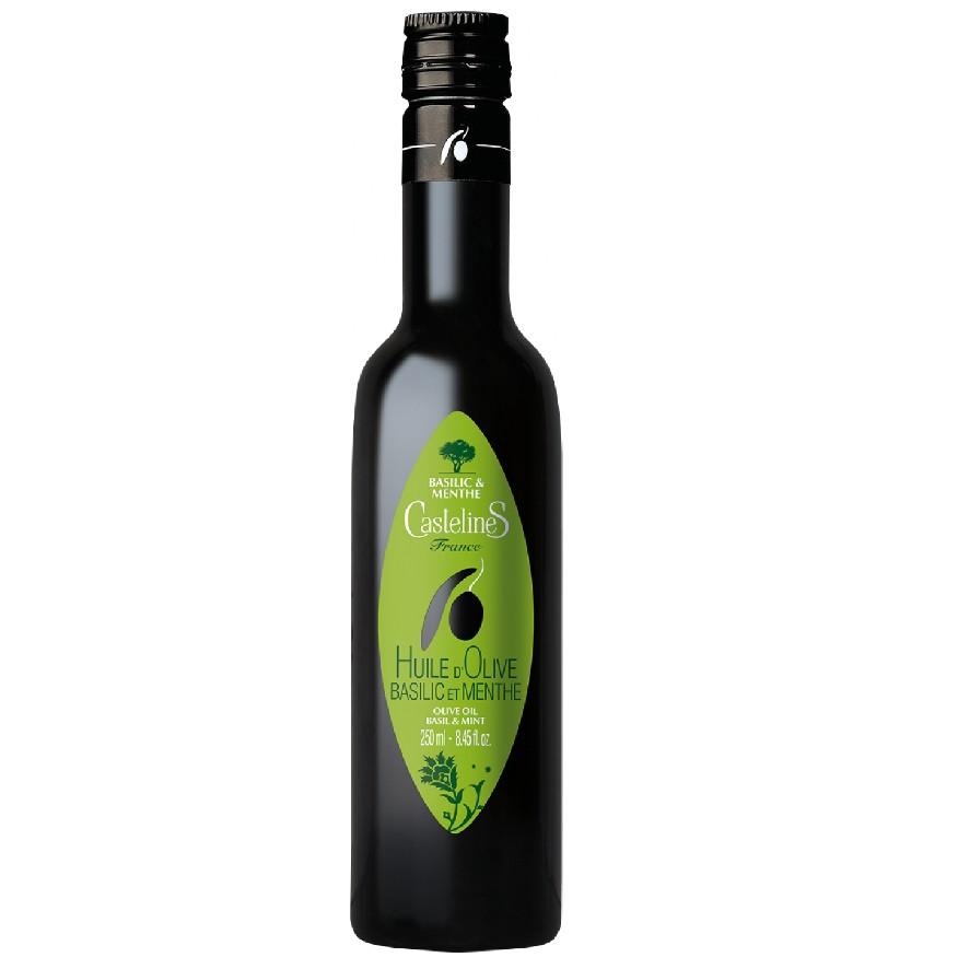 Basilikum und Minze - BIO Olivenöl von Moulin Castelas