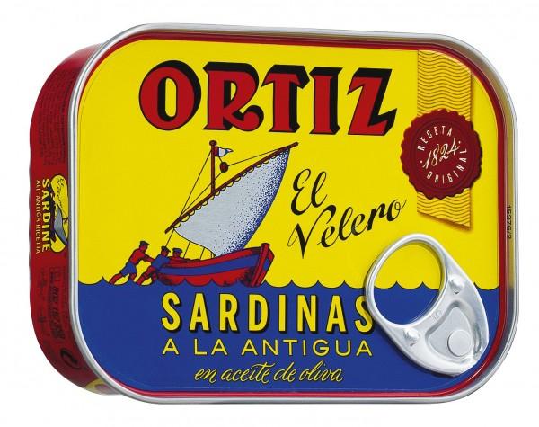 Sardinen in Olivenöl von Ortiz