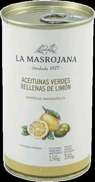 Grüne Oliven gefüllt mit Zitrone